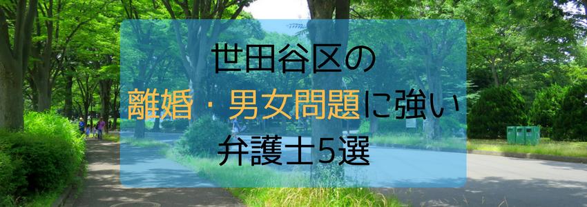 世田谷区の離婚・男女問題に強い弁護士・法律事務所5選